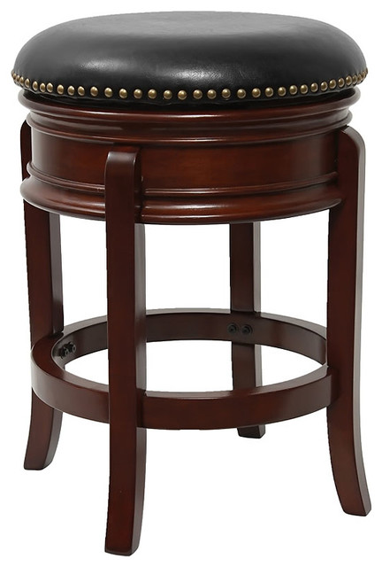24 Quot Backless Cherry Wood Counter Height Stool With Swivel
