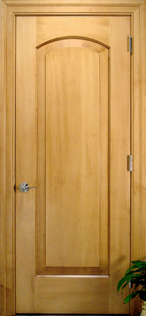 Arch 1 Panel Solid Wood Maple Door Traditional