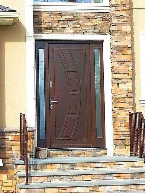Modern Exterior Wood Door With Sidelights Front Doors