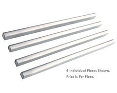 12-inch Stainless Steel Border Edge Tile, Sheet contemporary-accent-trim-and-border-tile