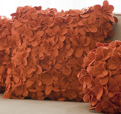 Tangelo Designer Square Pillow contemporary-decorative-pillows