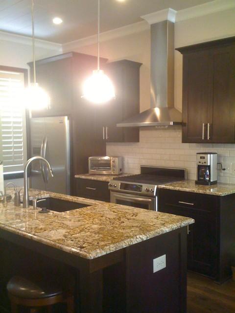 Condominium traditional-kitchen