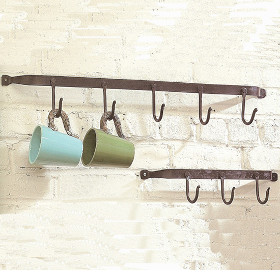 Iron Hook Wall Rack - Eclectic - Wall Hooks - atlanta - by Iron Accents