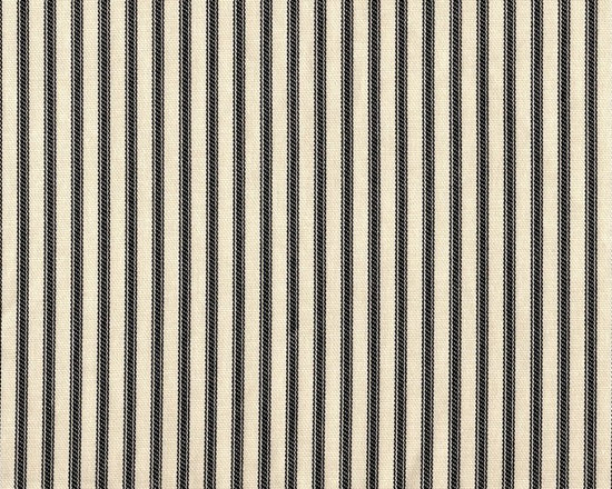"""Close to Custom Linens - Curtain Panels, Ticking Stripe Black, Black, 84"""", Lined - A traditional ticking stripe in black on a cream background."""