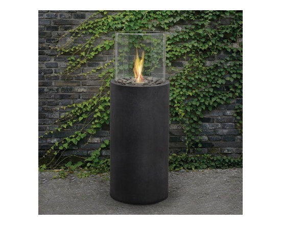 """Real Flame Modesto Gel Fireplace - Dimensions: 14.5"""" x14.5"""" x 44""""H"""