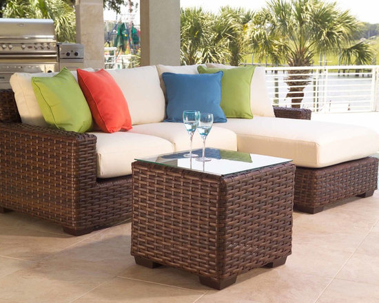 Lloyd Flanders Contempo Collection Seating - Lloyd Flanders Contempo Collection seating area invites fresh simplicity to outdoor conversation.
