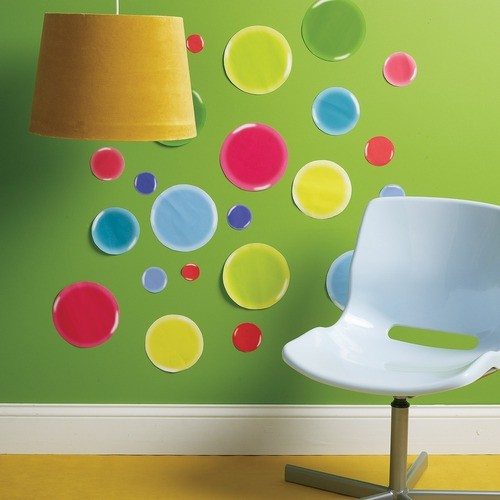 3-D Dots Wall Art Vinyl Peel and Stick modern-wall-decals