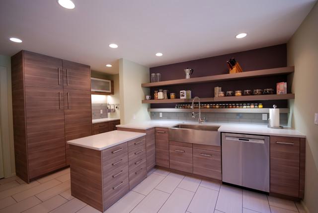Ikea Regensburg Kinderzimmer ~ Kraus farm sink with IKEA Sofielund cabinets, caesarstone quartz