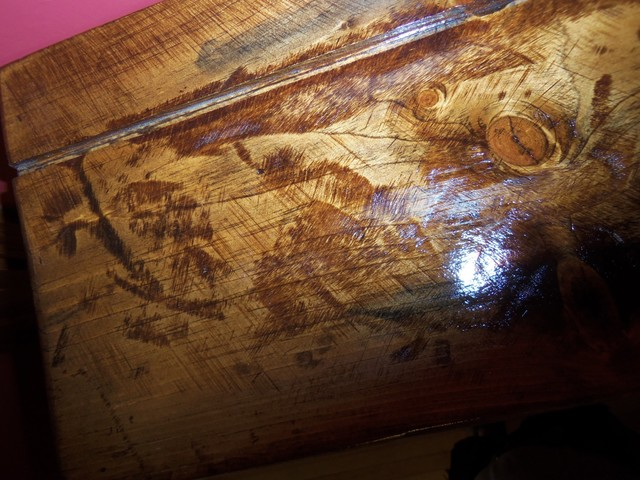 Distressed Wood Finishing (Shelves) craftsman-display-and-wall-shelves