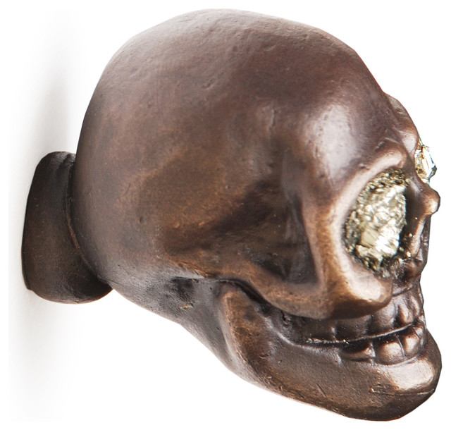 Charlie Skull Cabinet Knobs contemporary-cabinet-and-drawer-knobs