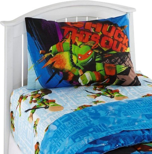 Teenage Mutant Ninja Turtles Twin Sheet Set Tmnt Nunchucks