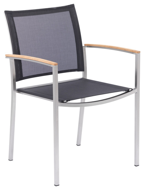 AuthenTEAK Stainless Collection modern outdoor dining chairs