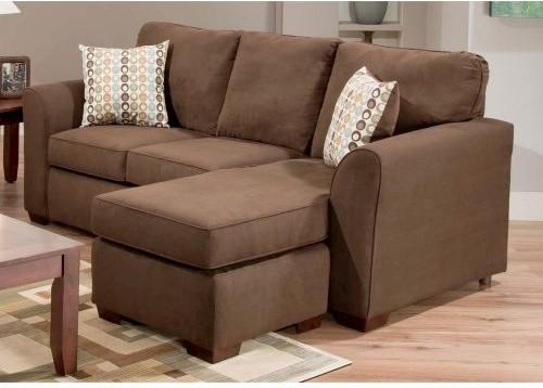 Chelsea Home Dutchess Sofa Chaise - Calcutta Coffee modern-sofas