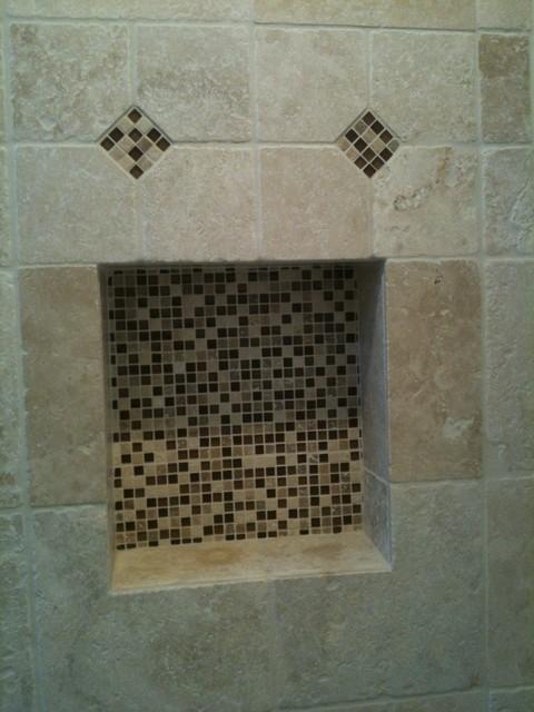 Master shower niche mediterranean