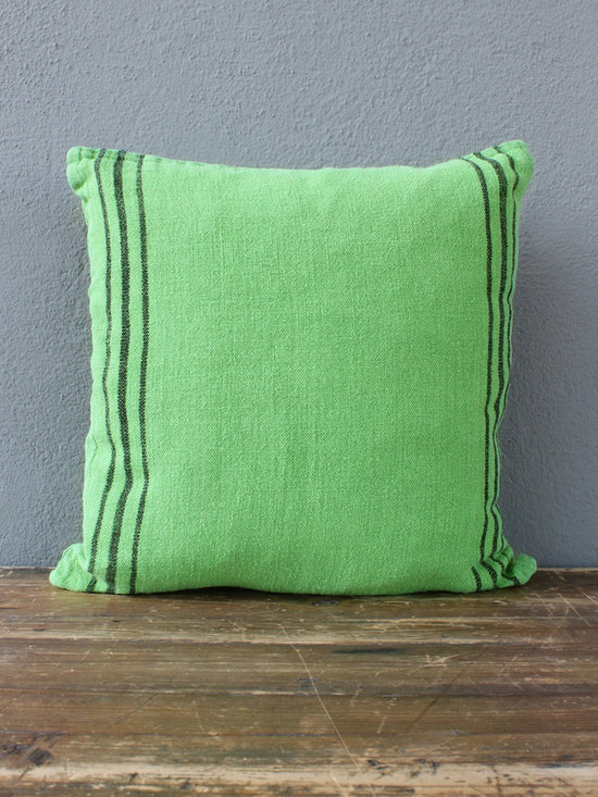 green linen pillow - view this item on our website for more information + purchasing availability: http://redinfred.com/shop/category/detail/throw-pillows/green-linen-pillow/