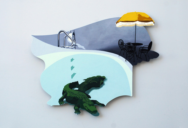 Responsible Fun  {shaped painting} contemporary-artwork