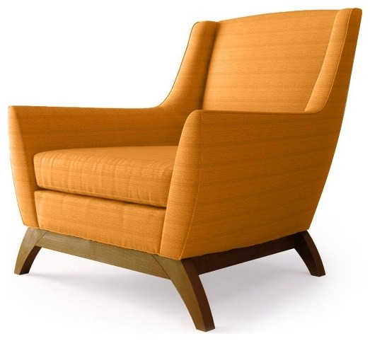 Coolidge Mid Century Modern Chair Klein Citrus Orange Midcentury Living