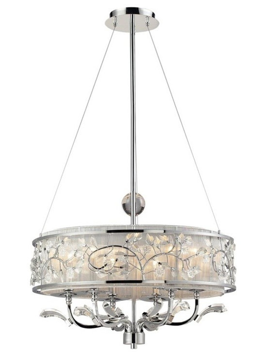 Calista 6-Light Chandelier In Polished Chrome by Elk Lighting - StudioLX