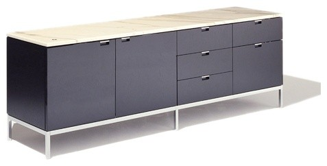 Florence Knoll Two-Door + Five-Drawer Credenza modern-buffets-and-sideboards