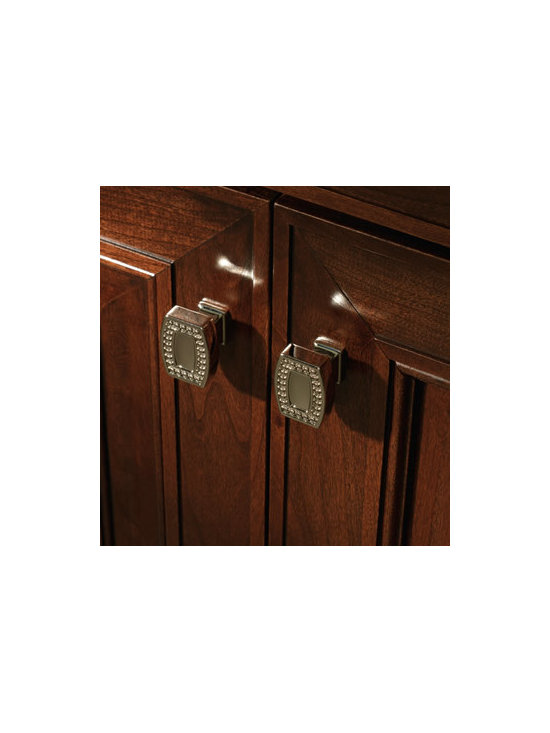 Pearl Beaded Knob - Bold pearl bead detail adds an elegant jewelry-like accent.