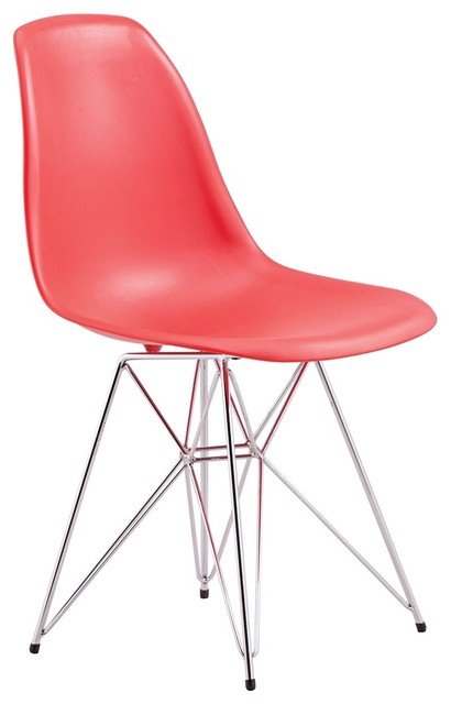 Zuo Spire Red Dining Chair contemporary-dining-chairs