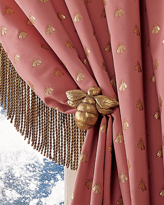 Napoleonic Bee Tieback traditional curtains
