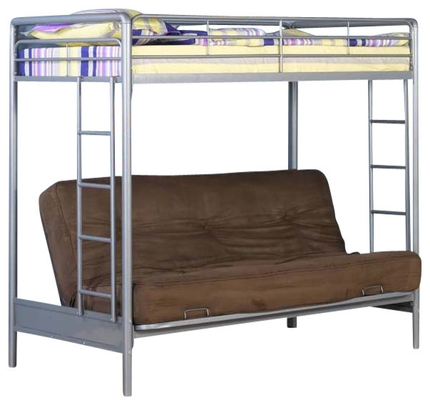 Twin Over Full Futon Metal Loft Bed contemporary-kids-beds