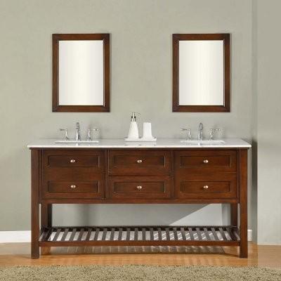 Direct Vanity Sink Mission Spa Collection 70-in. Double Bathroom Vanity - Espres modern-bathroom-vanities-and-sink-consoles