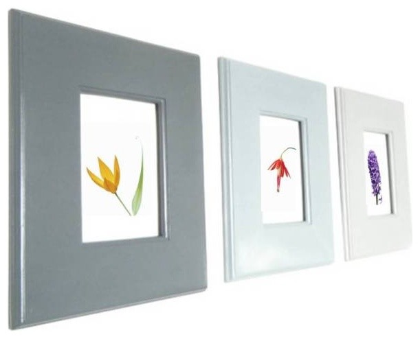 Modern Wall Frame Decor : Ombre style wall hanging frames for photos and art