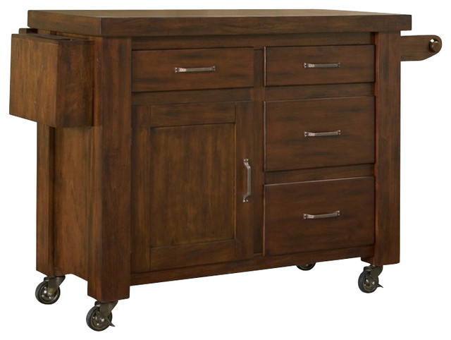 home styles cabin creek kitchen cart with breakfast bar in