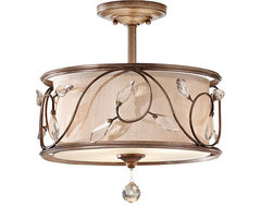 Eleanor Semi Flush Mount traditional bathroom lighting and vanity lighting