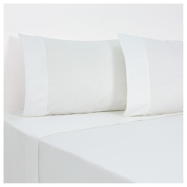 1000 TC Queen Size Solid White Color Fitted Sheet contemporary-sheets