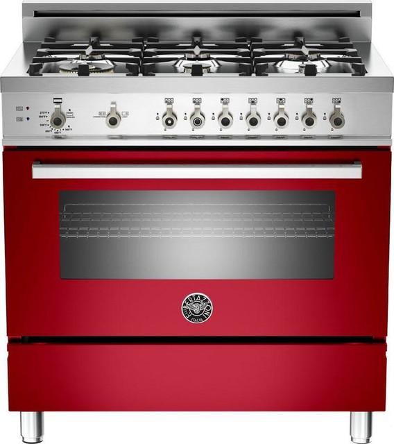 Bertazzoni PRO366GASRO Red 36 Pro Style Gas Range