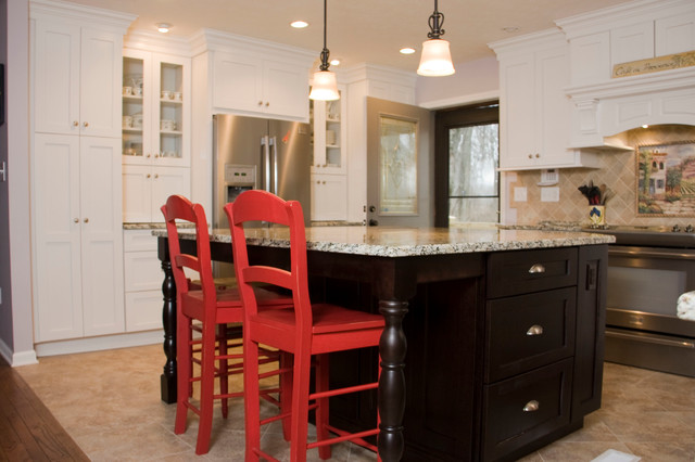 White Transitional Kitchens Transitional Kitchen Cincinnati By Mauk Cabinets By Design