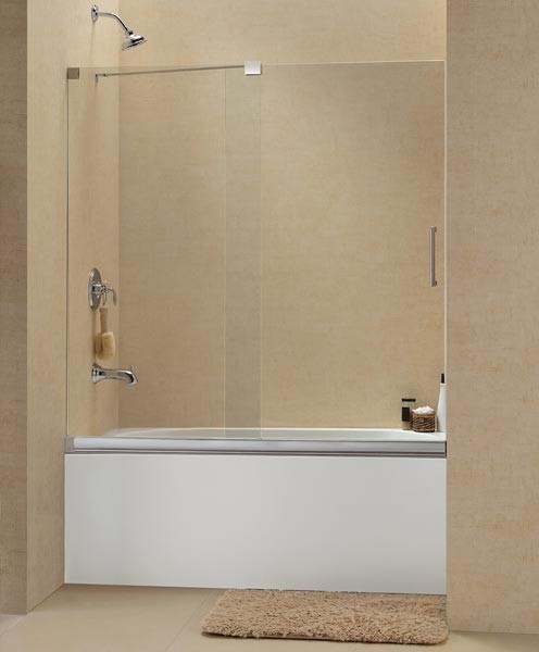 Frameless Sliding Tub Door 56 60 SHDR 1960582 Modern Shower Doors