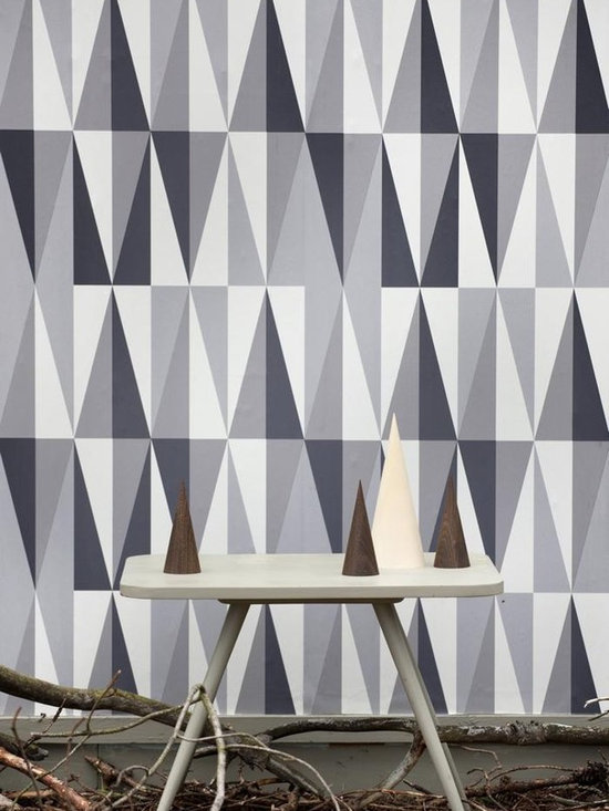 Ferm Living Grey Rush Hour Wallpaper - Ferm Living's Wallpaper is graphic & whimsical adding character, charm and personality to any room. Wallpaper has a striking effect and will without a doubt turn your room into a sanctuary.