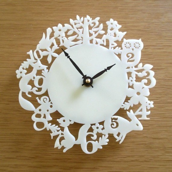 Its My Forest Modern Wall Clock by Decoylab contemporary clocks