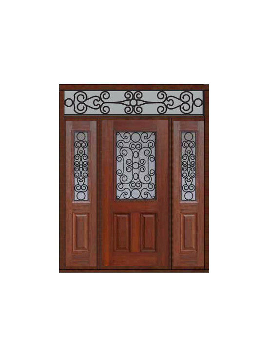 "Prehung Side lights-Transom Door 80 Fiberglass Genoa 1/2 Lite - SKU#    MCT012WG_DFHGG1-2RGGBrand    GlassCraftDoor Type    ExteriorManufacturer Collection    1/2 Lite Entry DoorsDoor Model    GenoaDoor Material    FiberglassWoodgrain    Veneer    Price    4105Door Size Options    32"" + 2( 14"")[5'-0""]  $036"" + 2( 14"")[5'-4""]  $036"" + 2( 12"")[5'-0""]  $0Core Type    Door Style    Door Lite Style    1/2 LiteDoor Panel Style    2 PanelHome Style Matching    Door Construction    Prehanging Options    PrehungPrehung Configuration    Door with Two Sidelites and Rectangular TransomDoor Thickness (Inches)    1.75Glass Thickness (Inches)    Glass Type    Double GlazedGlass Caming    Glass Features    Tempered glassGlass Style    Glass Texture    Glass Obscurity    Door Features    Door Approvals    Energy Star , TCEQ , Wind-load Rated , AMD , NFRC-IG , IRC , NFRC-Safety GlassDoor Finishes    Door Accessories    Weight (lbs)    663Crating Size    36"" (w)x 108"" (l)x 89"" (h)Lead Time    Slab Doors: 7 Business DaysPrehung:14 Business DaysPrefinished, PreHung:21 Business DaysWarranty    Five (5) years limited warranty for the Fiberglass FinishThree (3) years limited warranty for MasterGrain Door Panel"