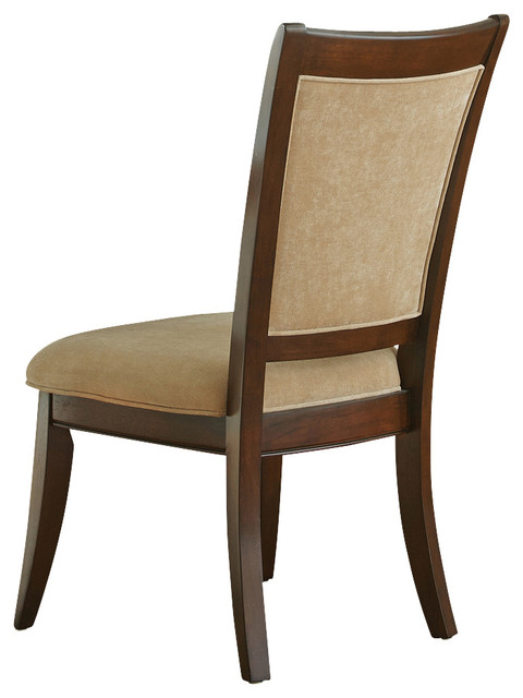 Steve Silver Heather Side Chair in Merlot Cherry [Set of 2] modern-dining-chairs