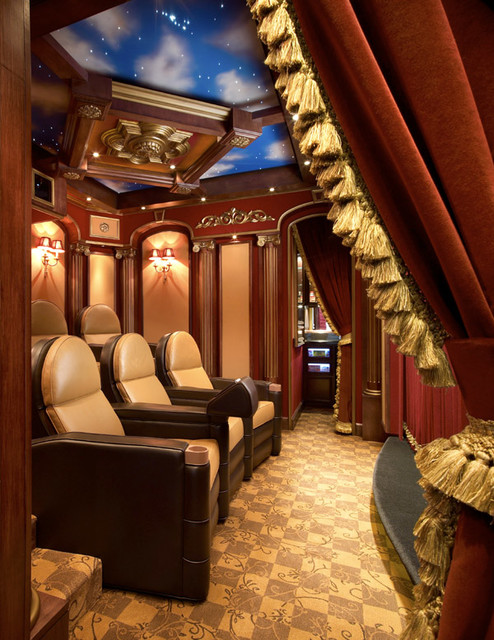 Theater Rooms traditional-home-theater