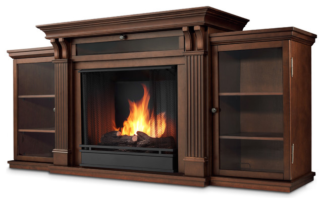 Dark Espresso Ashley Electric Fireplace & Entertainment ...