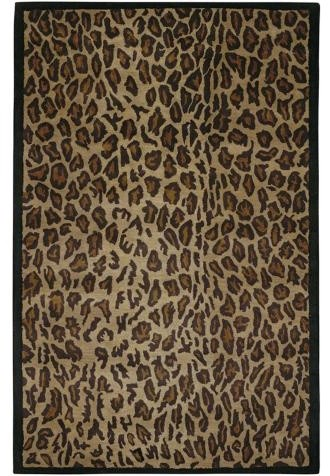 Leopard New Zealand Wool Area Rug traditional-rugs