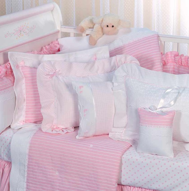 Crib Linens in Pink traditional