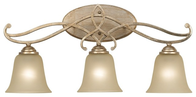 Gold Tone Vanity Lights : Contemporary Two-Tone 24 1/2