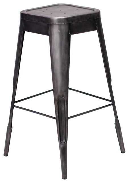 Felix French Cafe Style Bar Stool Metallic Gunmetal  : industrial bar stools and counter stools from houzz.com size 454 x 640 jpeg 36kB