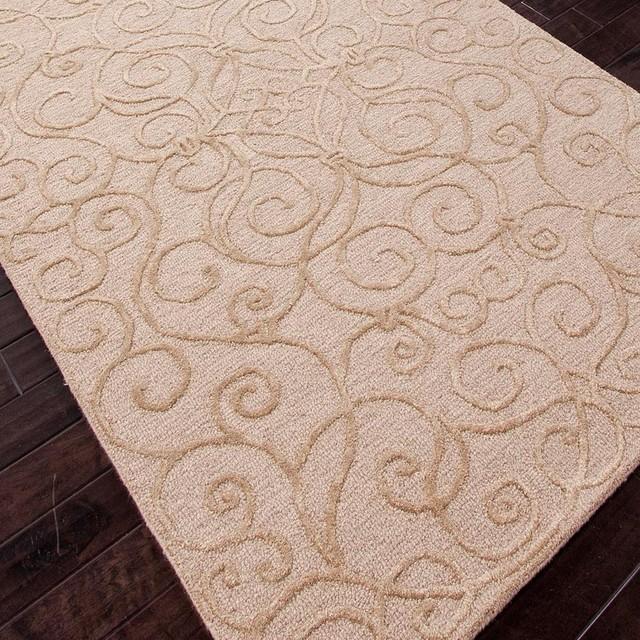 Modern Damask Wool U0026 Art Silk Rug   Beige Or Grey   Lamp Shades   By