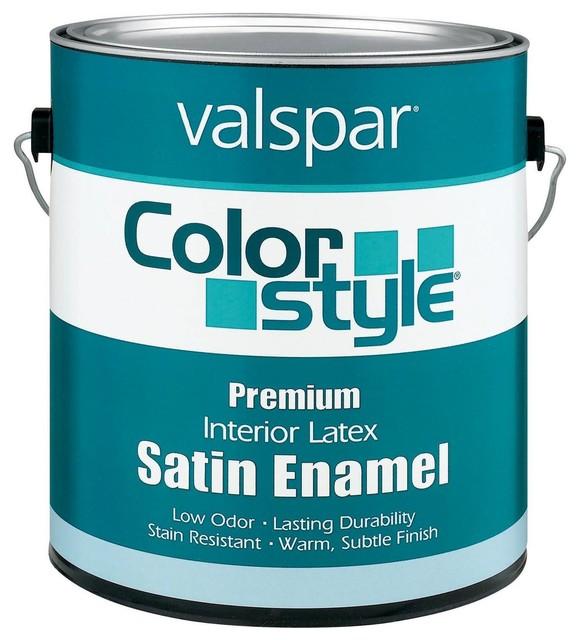 Valspar Professional Interior Paint Reviews: Valspar 1 Gallon Color Style Interior Latex Satin Enamel