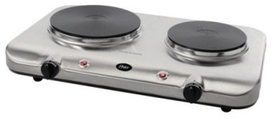 Oster CKSTBUD500 Stainless Steel Solid Double Burner Hot Plate modern-laundry-room-appliances