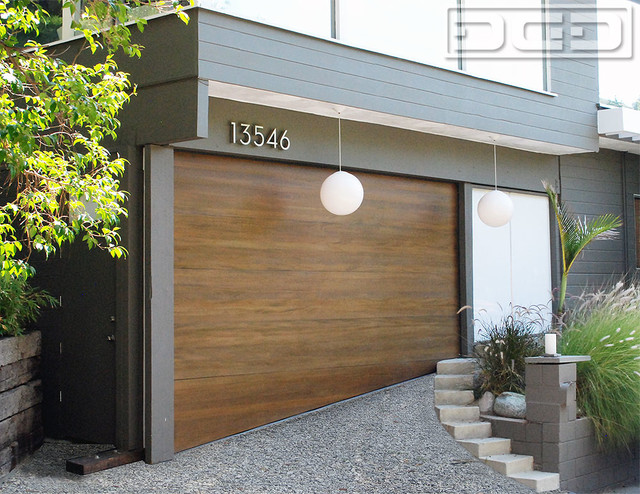 Exterior window trim styles ranch - A Midcentury Modern Carport Converted Into A Garage With A