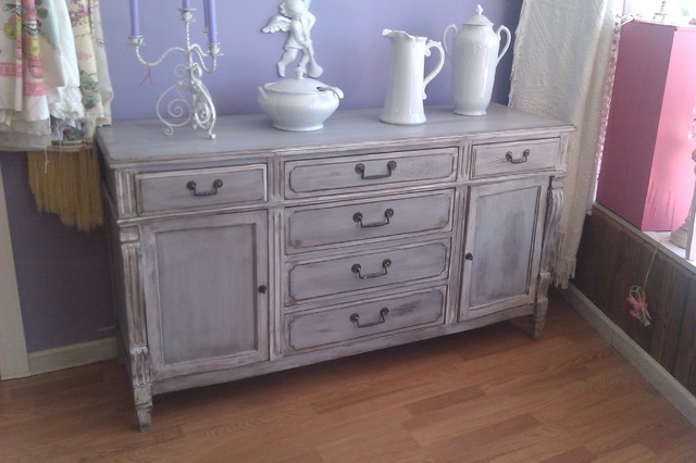grench gray distressed buffet server vintage www.vintagechicfurniture ...